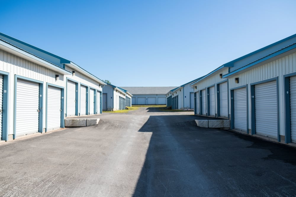 Wide driveways at Apple Self Storage - Fredericton North in Fredericton, New Brunswick