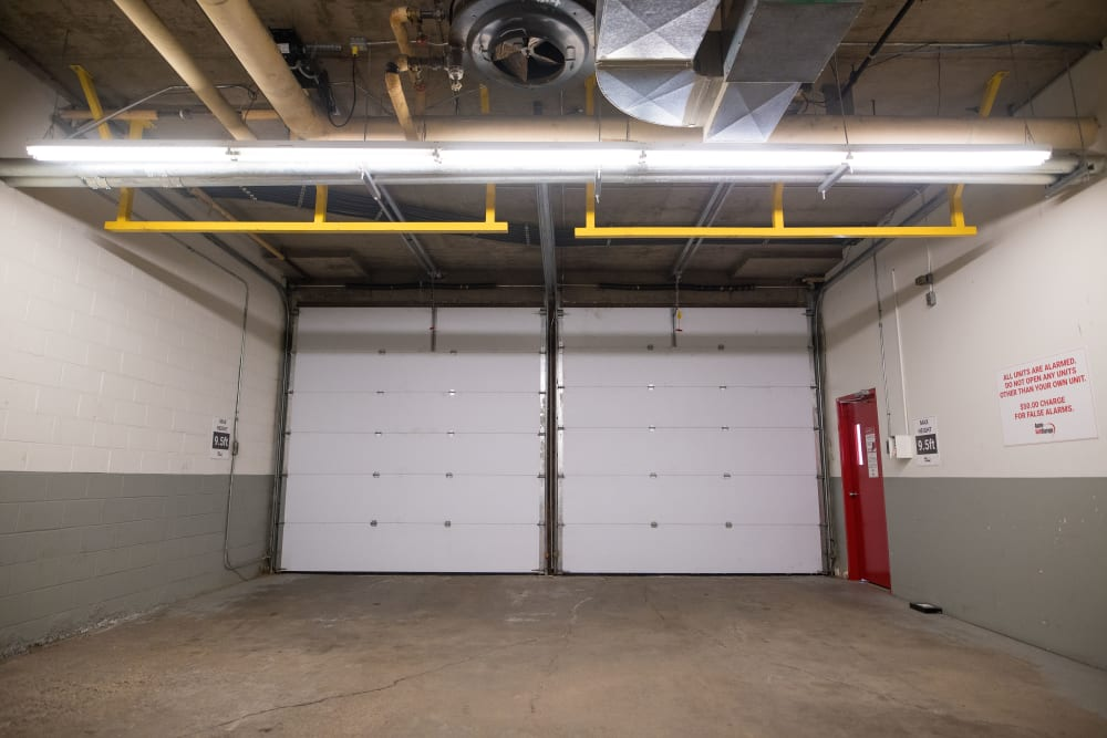 Large loading doors for your convenience at Apple Self Storage - Halifax Downtown in Halifax, Nova Scotia