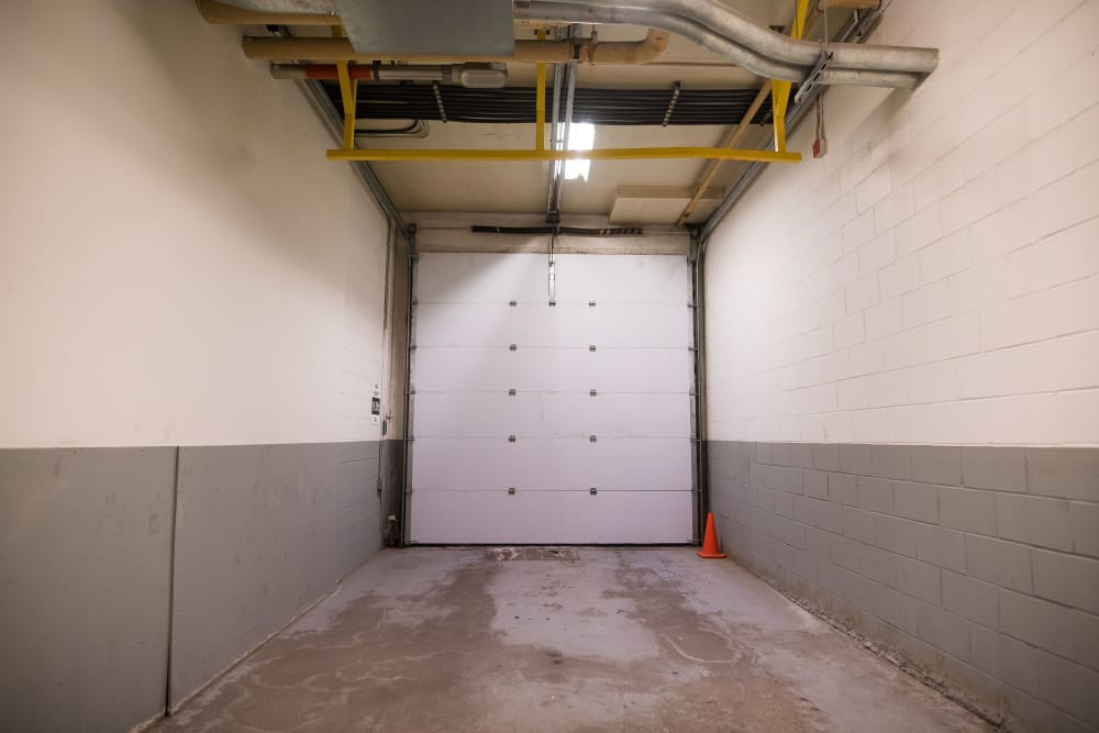 Large loading bay door at Apple Self Storage - Halifax Downtown in Halifax, Nova Scotia