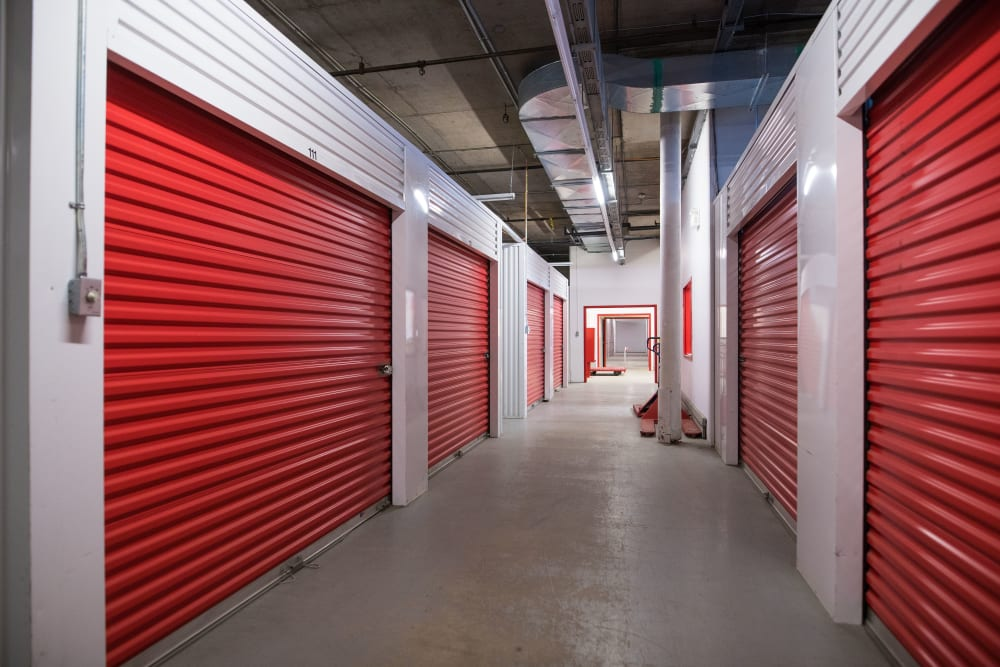 Bright hallways inside of Apple Self Storage - Halifax Downtown in Halifax, Nova Scotia