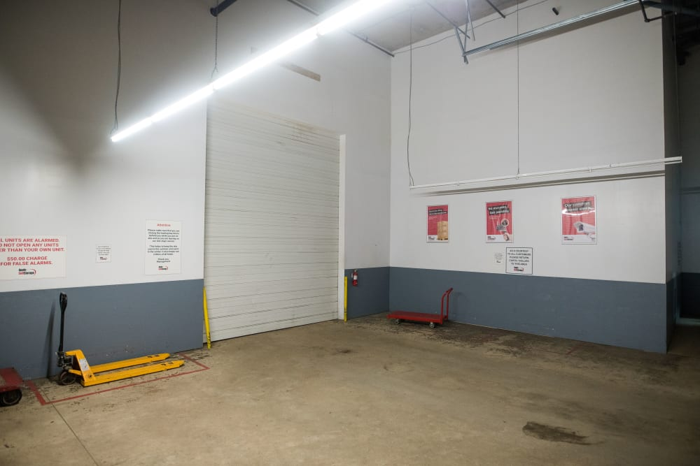 Tall loading doors and carts available at Apple Self Storage - Halifax Westend in Halifax, Nova Scotia