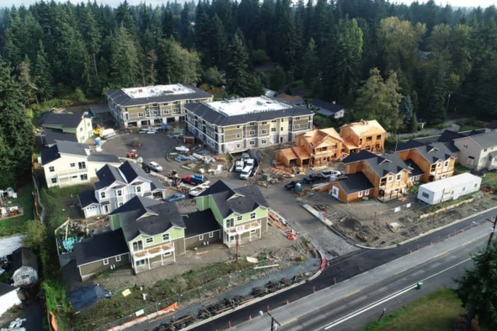 Building progress at Mirror Lake Village Senior Living Community