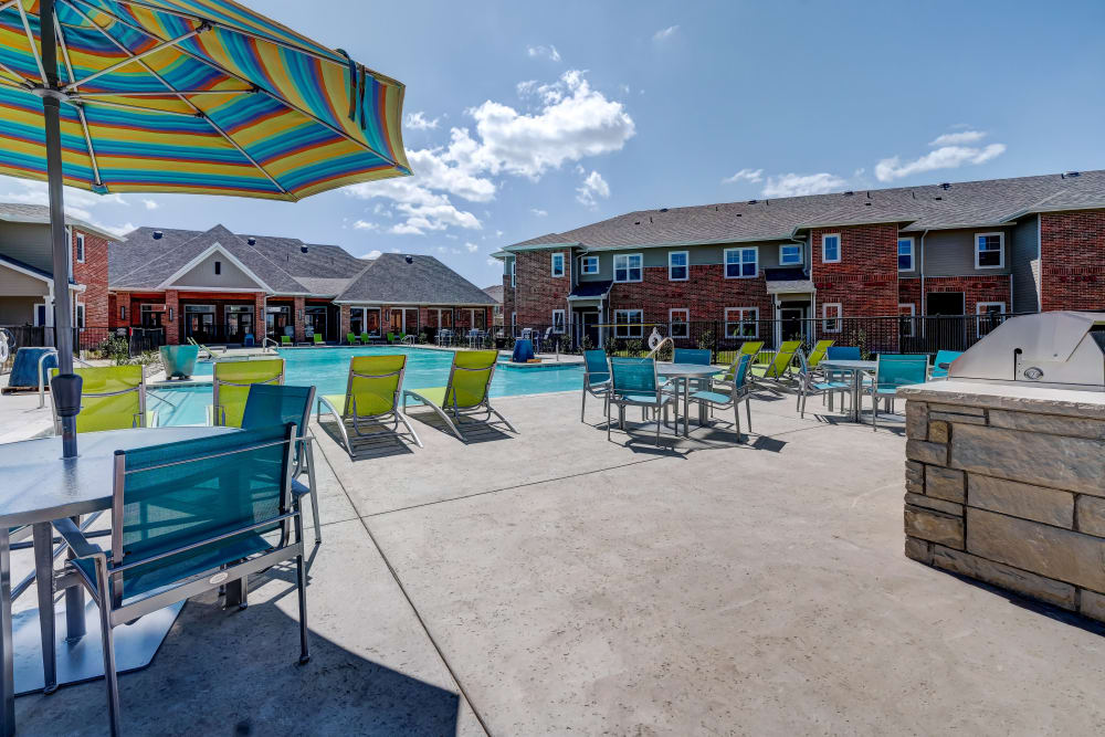 Relax by the pool at The Emerson at Forney Marketplace