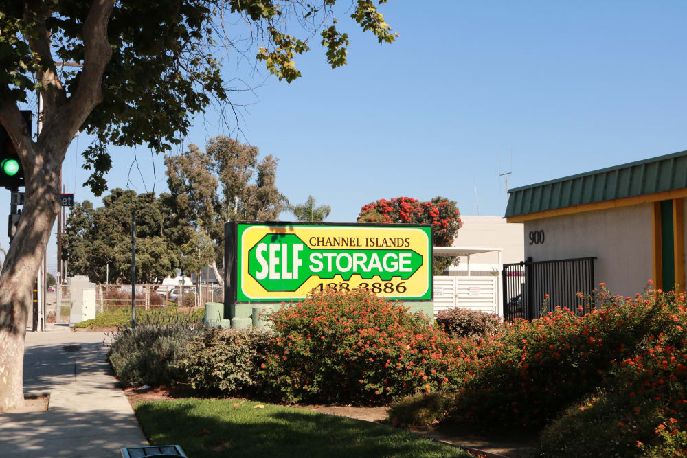 Front sign at Channel Islands Self Storage in Port Hueneme, CA