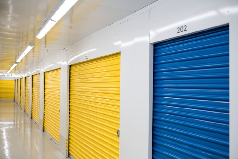 Clean interior units at National Self Storage in Kitchener, Ontario