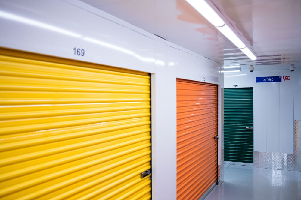 National Self Storage in Kitchener, Ontario, interior storage units