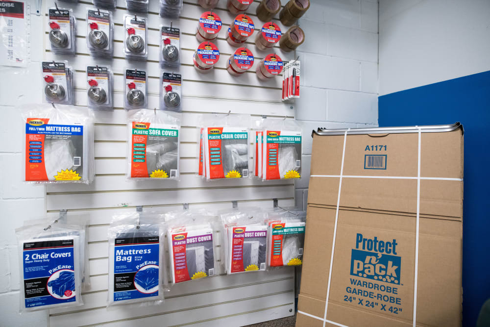 Packing supplies at Apple Self Storage - Mississauga East in Mississauga, Ontario
