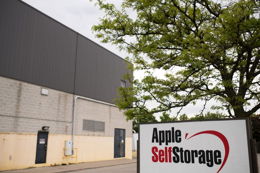 Exterior of Apple Self Storage - Mississauga East in Mississauga, Ontario