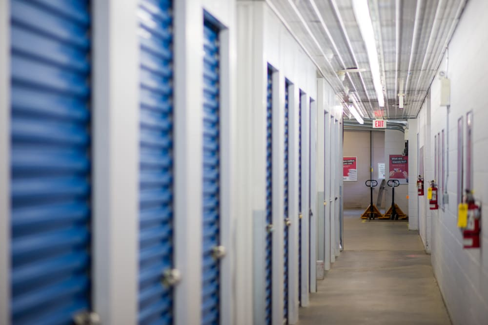 Bright hallway at Apple Self Storage - Waterloo in Waterloo, Ontario