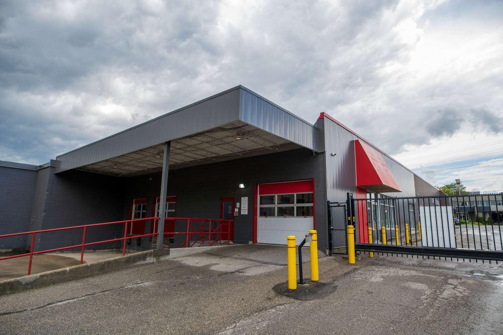 Large loading door at Apple Self Storage - Waterloo in Waterloo, Ontario