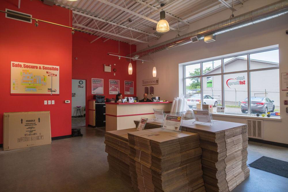 Boxes at Apple Self Storage - Waterloo in Waterloo, Ontario