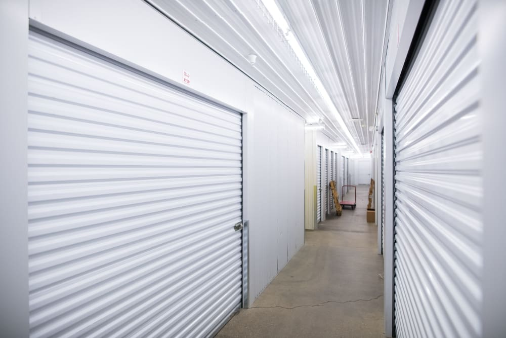Bright and white interior units at Apple Self Storage - Waterloo in Waterloo, Ontario