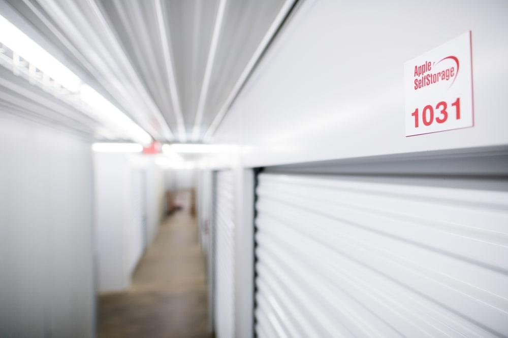 Clearly numbered units at Apple Self Storage - Waterloo in Waterloo, Ontario