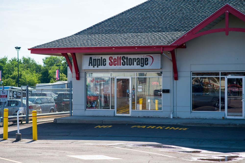 Entrance to Apple Self Storage - Moncton in Moncton, New Brunswick