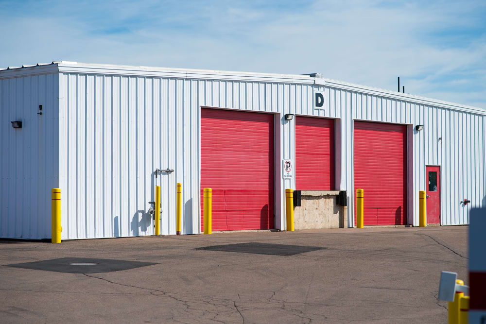 Large loading doors for your convenience at Apple Self Storage - Moncton in Moncton, New Brunswick