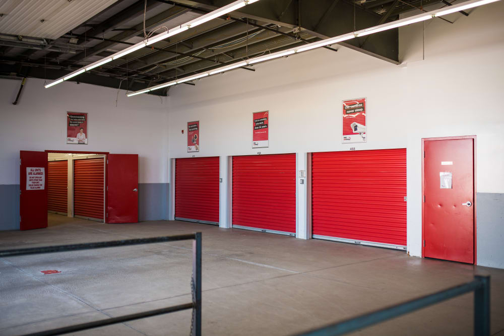 A variety of sizes of storage units at Apple Self Storage - Moncton in Moncton, New Brunswick