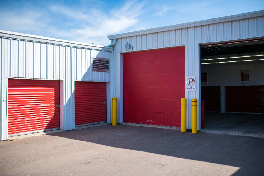 Large loading bay doors at Apple Self Storage - Moncton in Moncton, New Brunswick