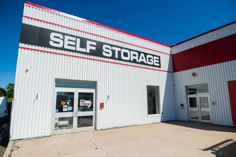 Exterior of Apple Self Storage - Saint John East in Saint John, New Brunswick