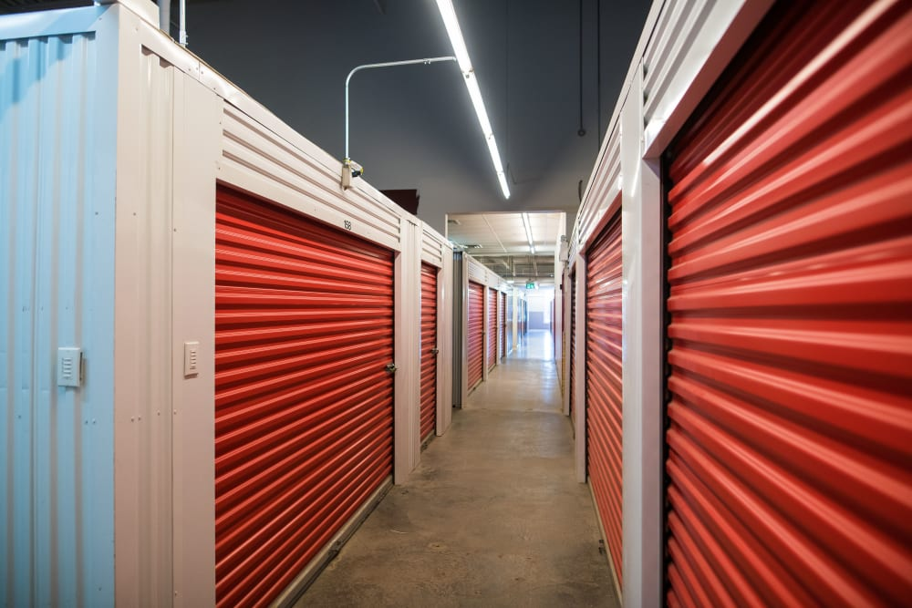 Spacious hallways at Apple Self Storage - Saint John East in Saint John, New Brunswick