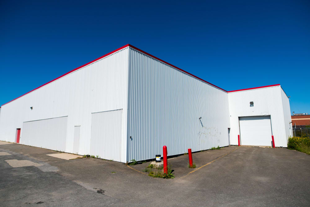 Large driveways and loading doors at Apple Self Storage - Saint John East in Saint John, New Brunswick