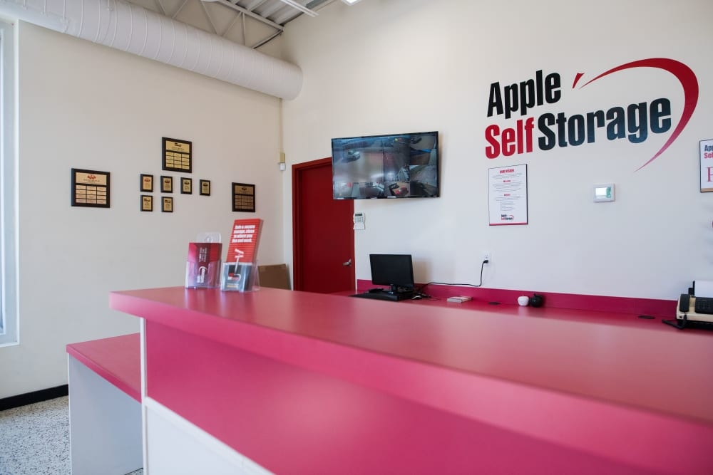 Front desk at Apple Self Storage - Saint John East in Saint John, New Brunswick