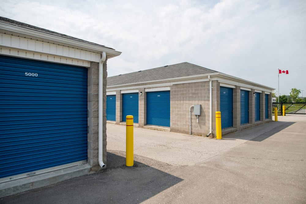 Expansive driveways at Apple Self Storage - Bowmanville in Bowmanville, Ontario