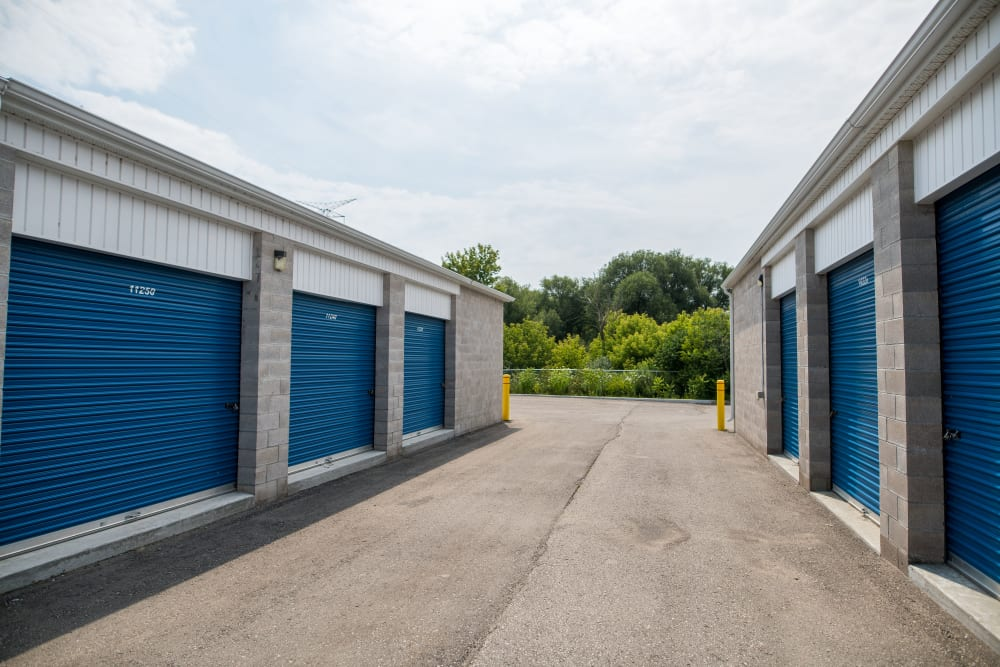 Apple Self Storage - Bowmanville in Bowmanville, Ontario, offers wide driveways for your convenience