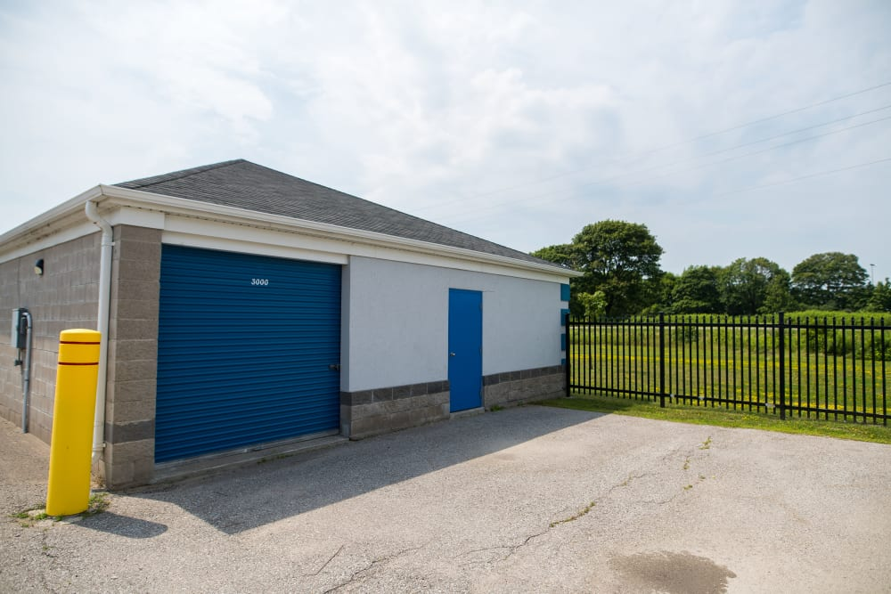 Apple Self Storage - Bowmanville in Bowmanville, Ontario, is a fenced property