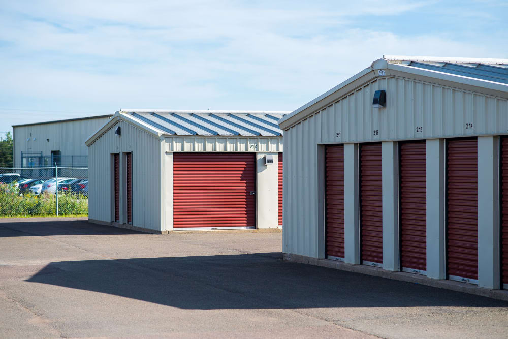 Wide driveways for your convenience at Lighthouse Self Storage in Moncton, New Brunswick