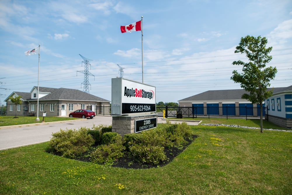 Outside of Apple Self Storage - Bowmanville in Bowmanville, Ontario