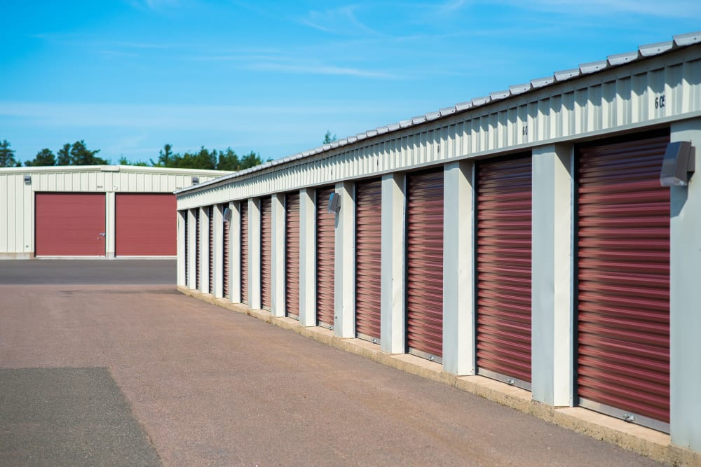 Wide driveways at Lighthouse Self Storage in Moncton, New Brunswick