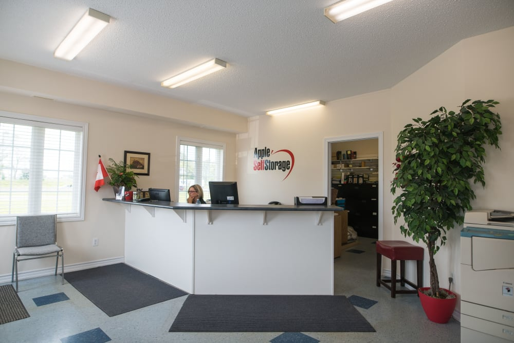 The office at Apple Self Storage - Bowmanville in Bowmanville, Ontario
