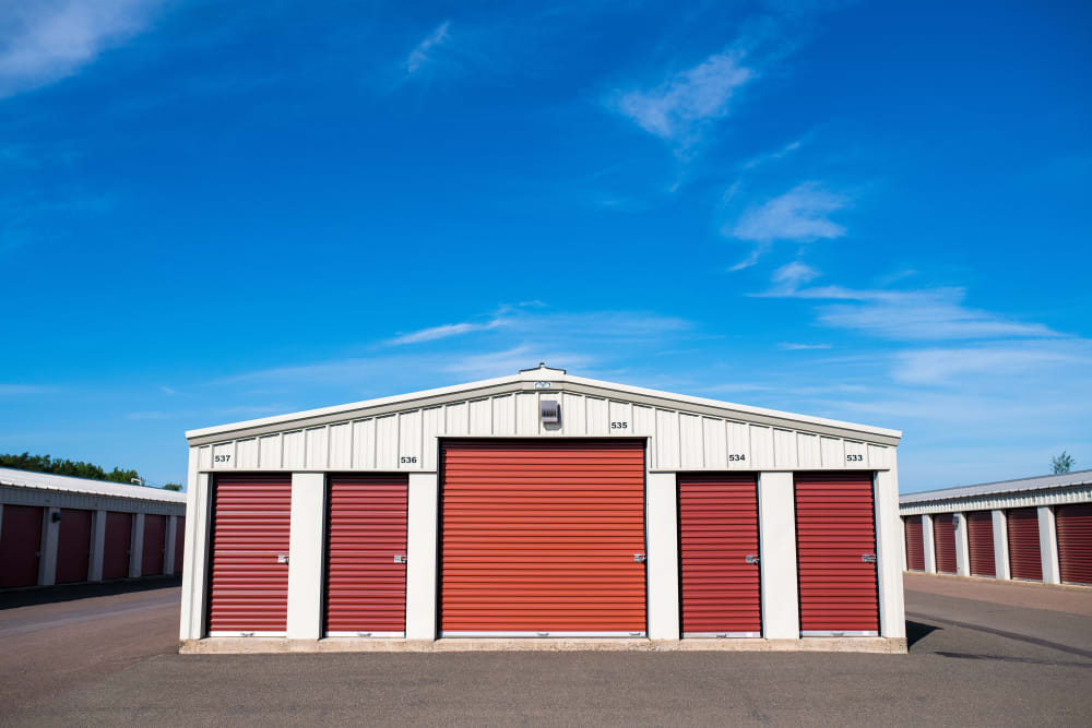 Exterior units at Lighthouse Self Storage in Moncton, New Brunswick