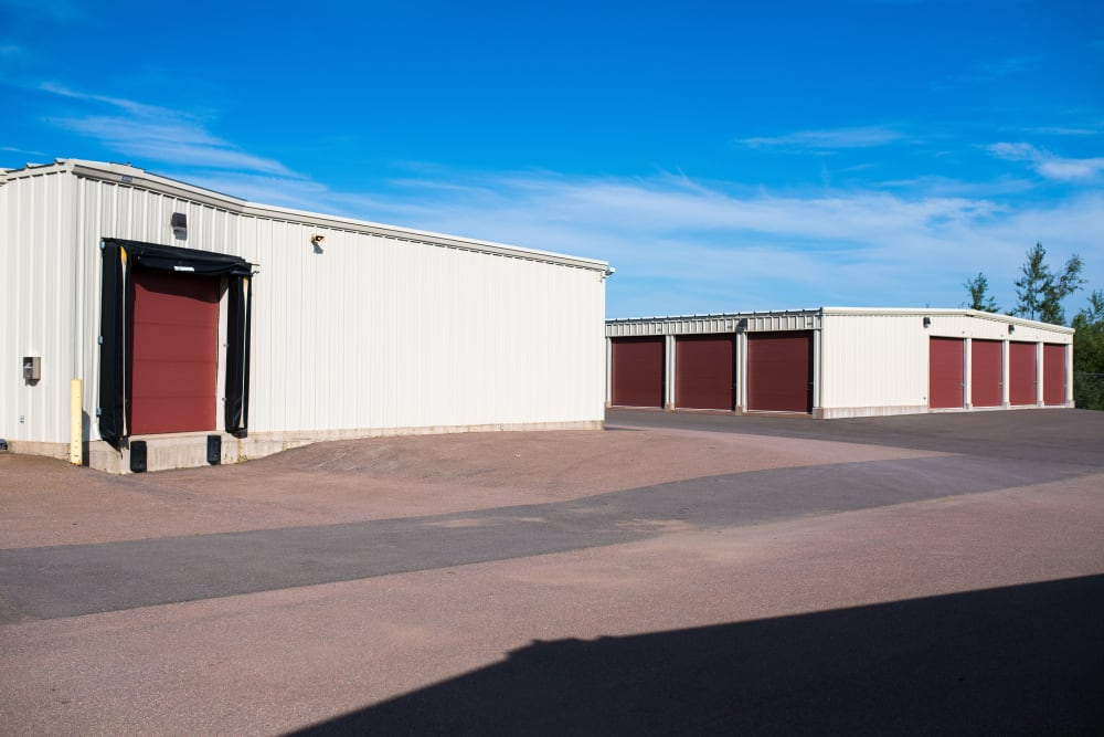 Large truck loading door at Lighthouse Self Storage in Moncton, New Brunswick