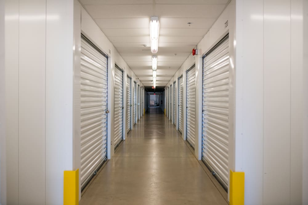 Lighthouse Self Storage in Moncton, New Brunswick, interior storage units