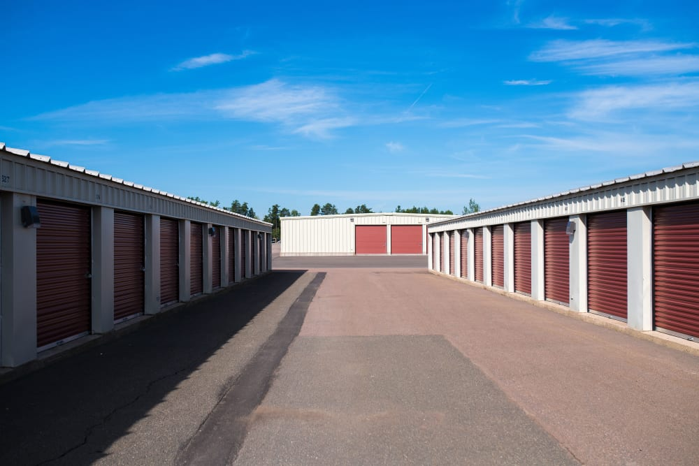 Lighthouse Self Storage in Moncton, New Brunswick, has wide driveways