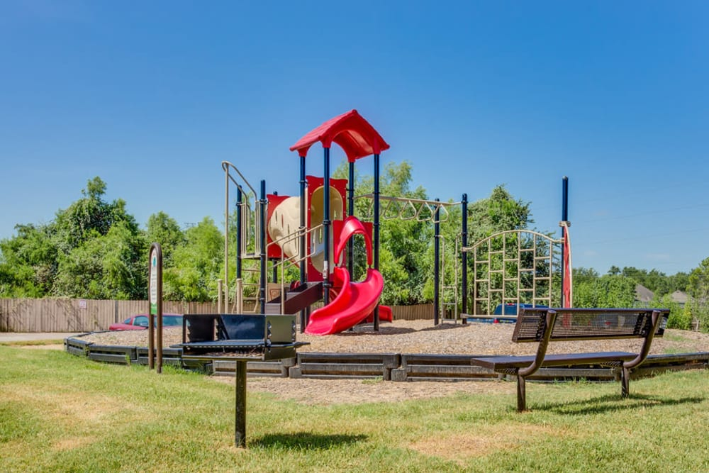 Onsite children's playground at The Establishment at 1800 in Missouri City, Texas