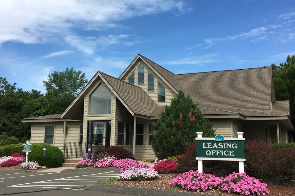 Leasing office at Autumn Chase in Ellington, Connecticut