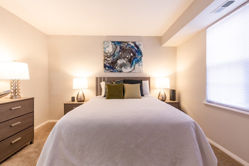 Spacious bedroom at Eagle Rock at Quiet Waters in Annapolis, Maryland