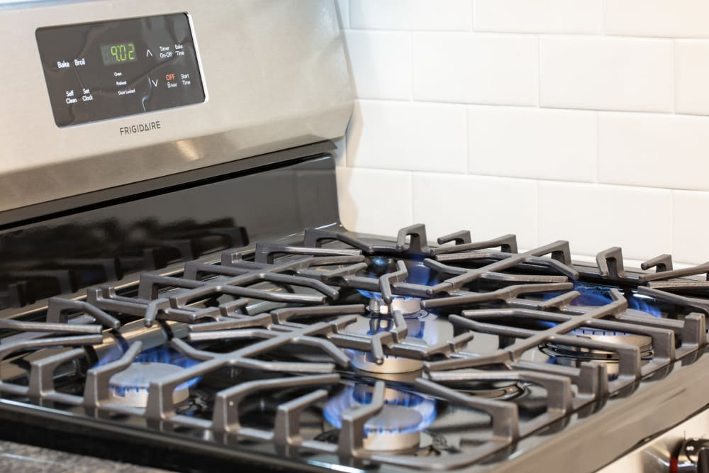 Kitchen with stainless steel appliance at Eagle Rock at Quiet Waters in Annapolis, Maryland