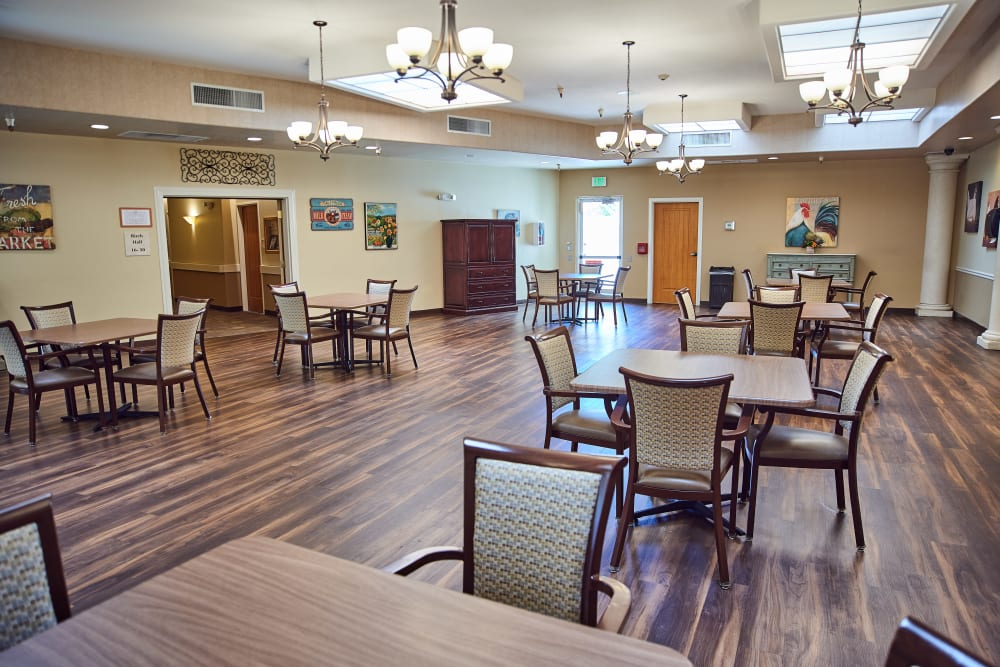 Dining room at Arbors Memory Care in Sparks, Nevada
