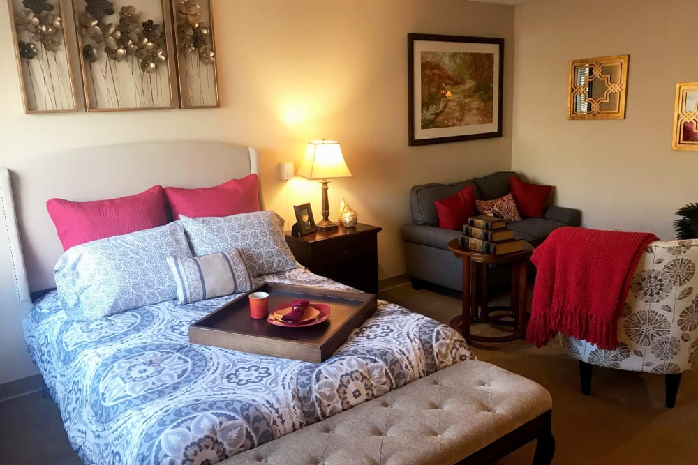 Spacious bedroom at Anchor Bay at Greenwich in East Greenwich, Rhode Island
