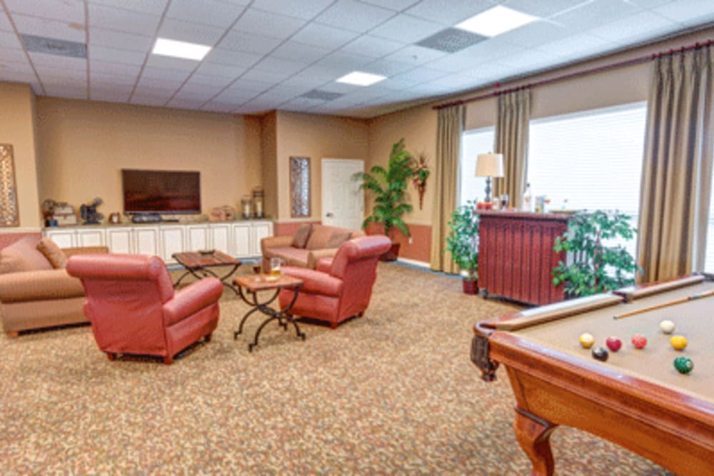 Activity room at Brentwood at Fore Ranch in Ocala, Florida.