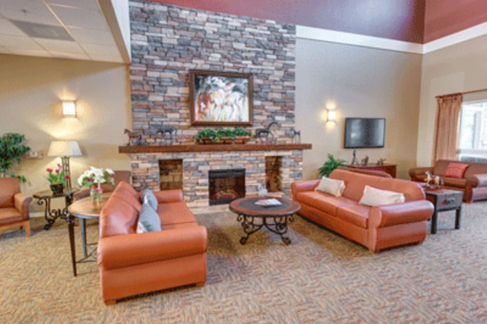 Lounge area at Brentwood at Fore Ranch in Ocala, Florida.