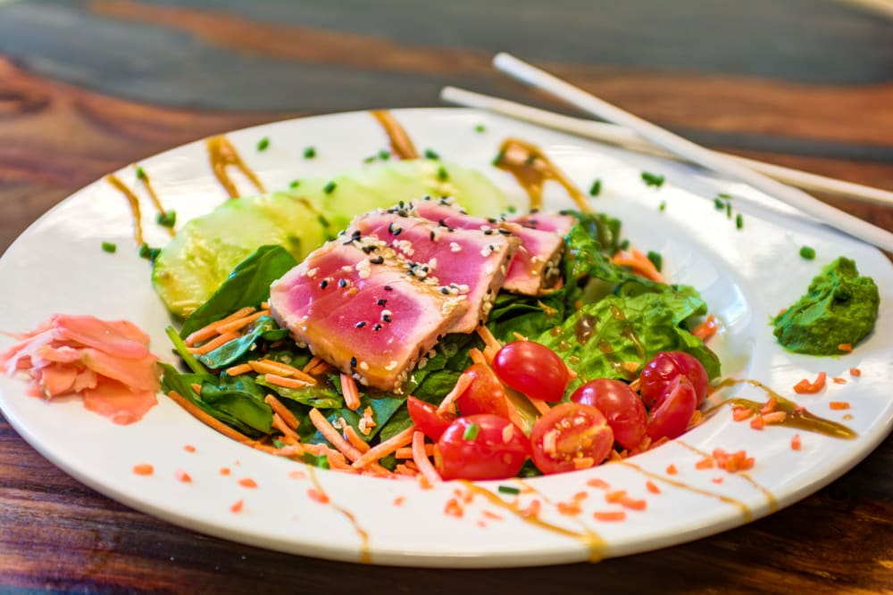 Healthy fish dish at Brentwood at St. Pete in St. Petersburg, Florida.