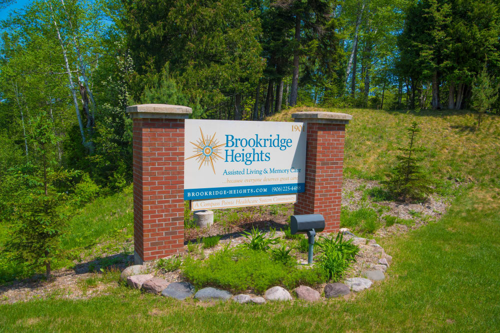 Brookridge Heights sign in Marquette,  Michigan.