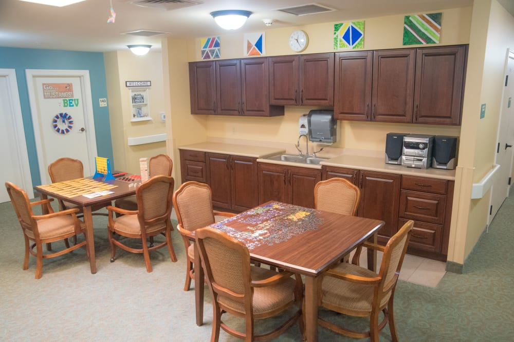 Dinning area at Brookridge Heights in Marquette, Michigan