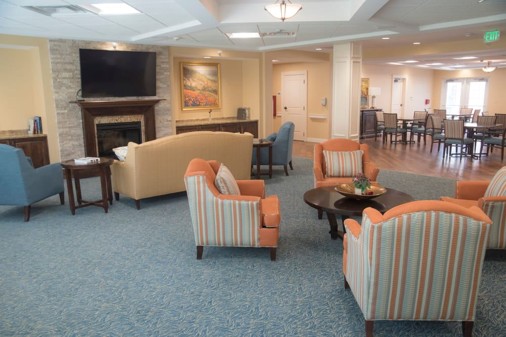 The lobby at Brookridge Heights in Marquette, Michigan.