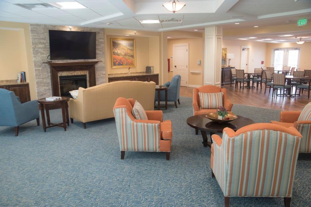 Lobby of Brookridge Heights senior living