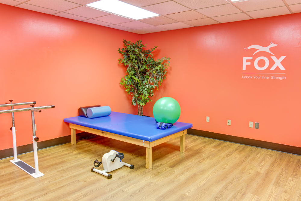 Exercise room at Locust Grove Personal Care & Memory Care in West Mifflin, Pennsylvania